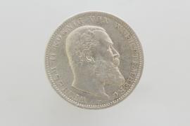 3 MARK 1909 F - WILHELM II (WÜRTTEMBERG)