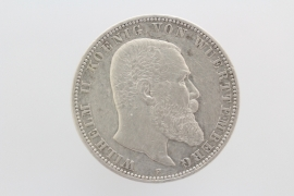 5 MARK 1895 F - WILHELM II (WÜRTTEMBERG)