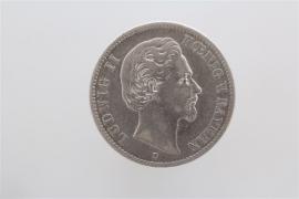 2 MARK 1876 D - LUDWIG II (BAVARIA)