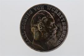1 TALER 1871 - KARL (WÜRTTEMBERG)