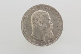 3 MARK 1911 F - WILHELM II (WURTTEMBERG)