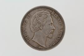 5 MARK 1874 D - LUDWIG II (BAVARIA)