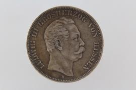 5 MARK 1876 H - LUDWIG III (HESSE)