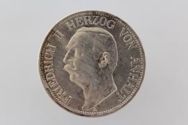 3 MARK 1909 A - FRIEDRICH II (ANHALT)