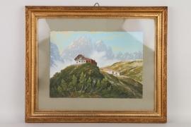 """Reschreiter, Rudolf """"Gruttenhütte im Kaisergebirge"""""""
