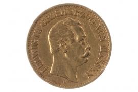 10 MARK 1876 H - LUDWIG III (HESSEN)