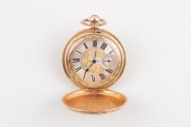 Schlüsseltaschenuhr, 18 K Gold, Grandjean & Co London, um 1865