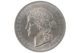 5 FRANKEN 1890 B (SWITZERLAND)