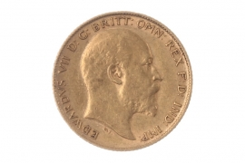 1/2 POUND 1905 - HALF SOVEREIGN - EDWARD