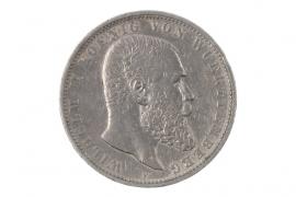 5 MARK 1902 F - WILHELM II (WURTTEMBERG)