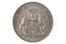 3 MARK 1908 J - HAMBURG