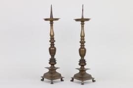 Ein paar Dornleuchter, süddeutsch um 1700
