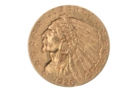 2 1/2 DOLLAR 1926 - INDIAN HEAD (USA)