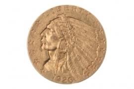 2 1/2 DOLLAR 1926 - INDIAN HEAD (USA)