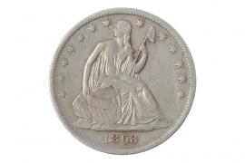 1/2 DOLLAR 1863 - SEATED LIBERTY (USA)
