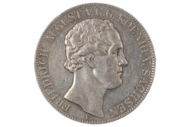 2 TALER - 3 1/2 GULDEN 1852 - FRIEDRICH AUGUST (SAXONY)