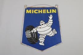 Doppelseitiges Emailschild Michelin, Frankreich 60er/70er Jahre