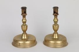 Ein Paar Glockenfußleuchter, norddeutsch oder flämisch um 1650