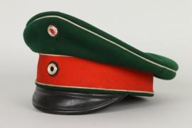 Schirmmütze für einen Offizier im  Husaren-Regiment 11