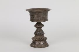 Silberne Öllampe, Tibet, 18./19.Jh