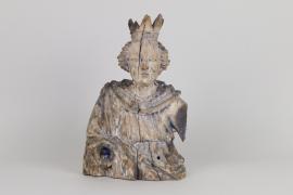 Fragment einer Marienfigur, deutsch, 2. Hälfte 17.Jh.