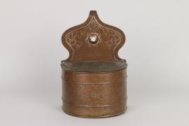 Barocke Salzmeste aus Kupfer, süddeutsch, Mitte 18. Jh.