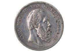5 MARK 1876 F - KARL (WÜRTTEMBERG)