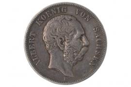 5 MARK 1876 E - ALBERT (SACHSEN)
