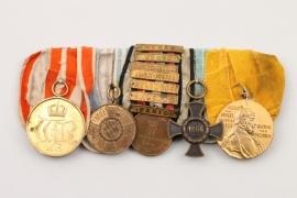 1870/71 German 5-medal bar
