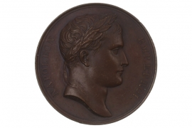MEDAL 1807 - NAPOLEON BONAPARTE - ROAD FROM NICE TO ROME (FRANCE)