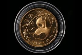 25 YUAN - 1/4 OZ. GOLD PANDA 1987 (CHINA)