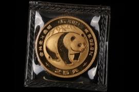25 YUAN - 1/4 OZ. GOLD PANDA 1983 (CHINA)