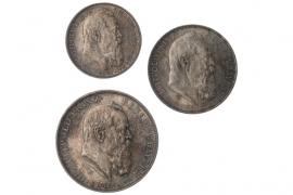 2, 3 & 5 MARK 1911 D - LUITPOLD (BAYERN)