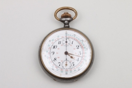 WW1 French chronograph pocket watch - engraved