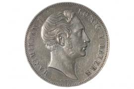 GESCHICHTSDOPPELTALER 1854 - MAXIMILIAN II - GLASPALAST (BAYERN)