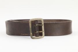 Third Reich political leather belt RZM 16 marked buckle