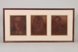 Spanish embassy Berlin - glass portrait paintings
