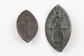 Zwei gotische Petschaften, Frankreich wohl 19. Jh.