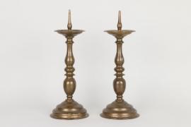Ein Paar Dornleuchter, Nürnberg um 1650