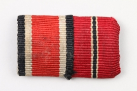 Wehrmacht 2-place Iron Cross ribbon bar
