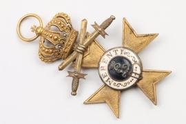 Bayern Militär-Verdienstkreuz 2. Klasse Krone / Schwerter DESCHLER