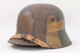 Austrian M17 mimikry camo helmet