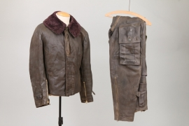 "Luftwaffe ""Reichsverteidigung"" pilot's leather suit"