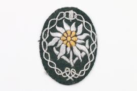 Gebirgsjäger officer's Edelweiss sleeve badge