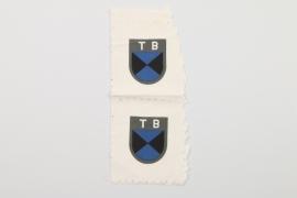 Waffen-SS 2 Terek Cossacks volunteer's sleeve badges