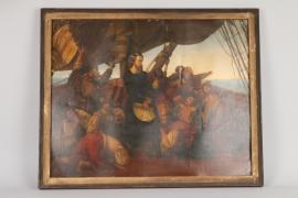 Kolumbus entdeckt Amerika, deutsch, Mitte 19. Jh.