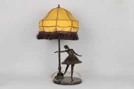 Lampe mit Bronze einer Tänzerin, Frankreich um 1910
