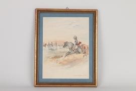 """Aquarell """"General Ney 1815"""", Frankreich um 1900"""