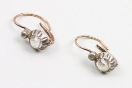 Ein Paar Diamantohrringe, deutsch, Mitte 19. Jh.