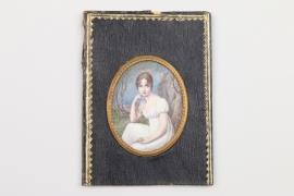 Miniatur Portrait einer jungen Dame, Frankreich um 1810/20